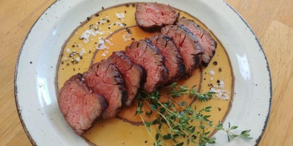 dry-aged bavette beef steak