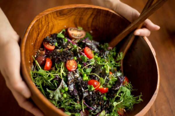 kale, sprout & herb salad