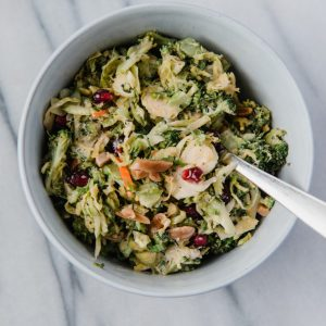 broccoli salad w/ cranberry and toasted almond
