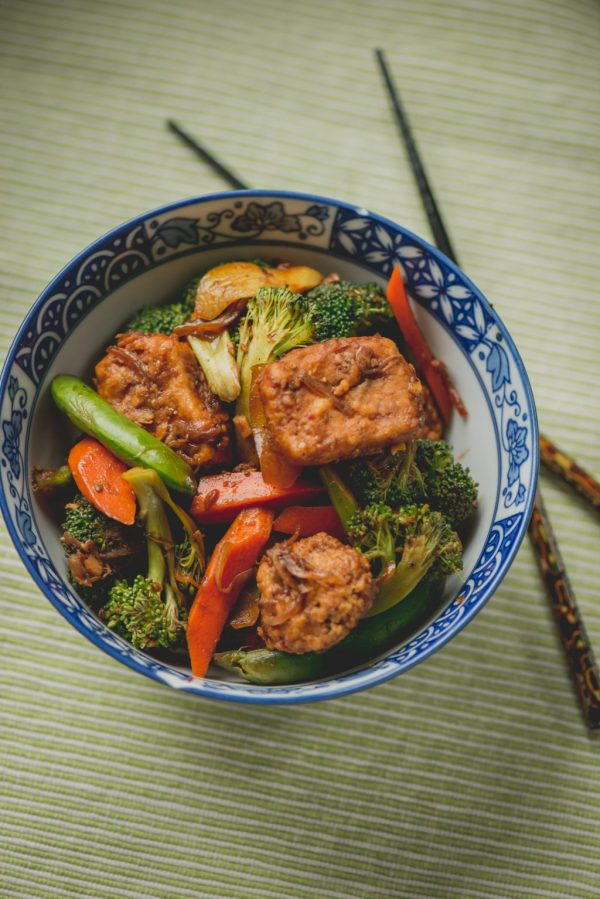 black pepper tofu stir fry