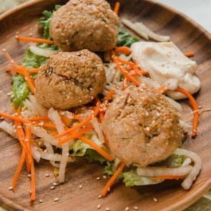 chili miso chicken meatballs