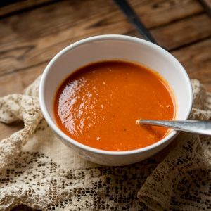 roasted red pepper tomato soup, organic meal delivery