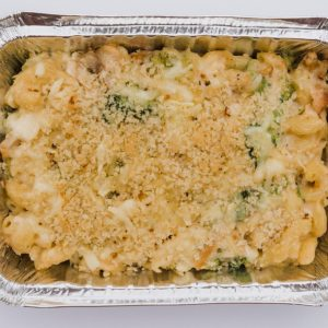 Macaroni + Cheese w/ Organic Chicken + Broccoli