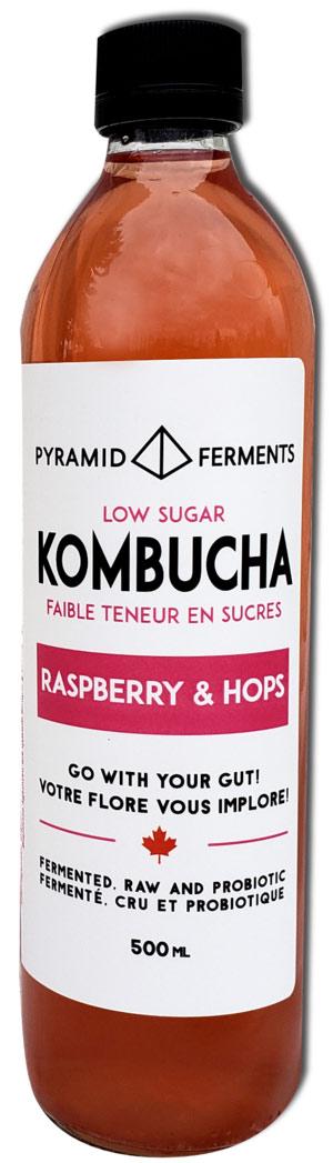 Pyramid Ferments Kombucha with raspberry + hops