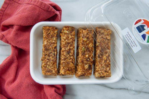 pumpkin + almond granola bar