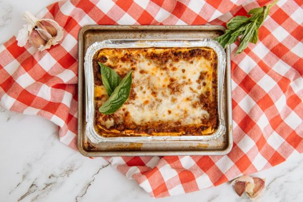dry-aged beef + 4 cheese lasagna