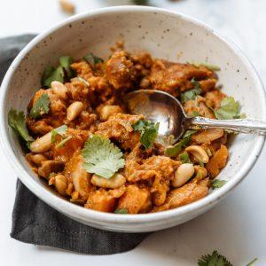 chicken + peanut stew w/ sweet potato